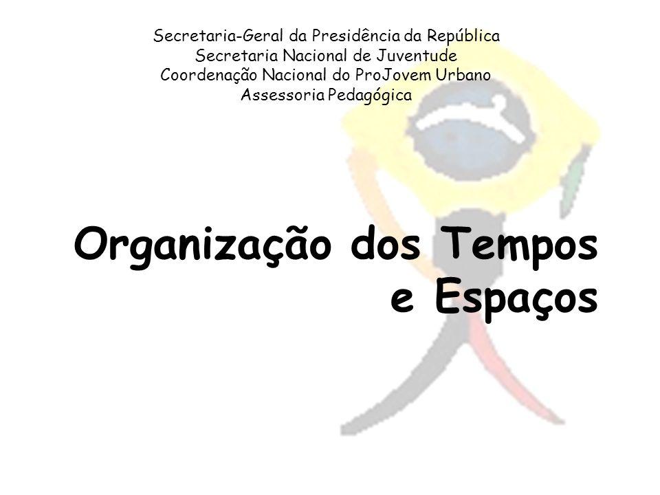 Secretaria-Geral da Presidência da República Secretaria Nacional de Juventude Coordenação Nacional do ProJovem Urbano Assessoria Pedagógica Organizaçã