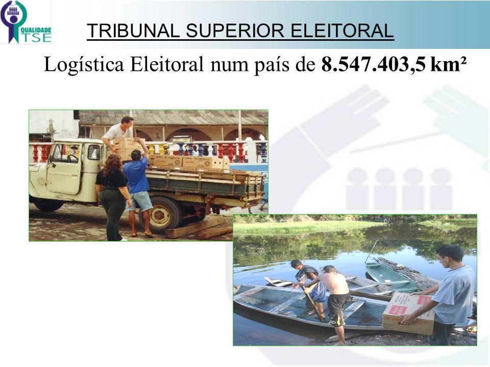 TRIBUNAL SUPERIOR ELEITORAL Logística Eleitoral num país de 8.547.403,5 km²