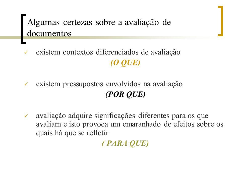 OBRIGADO as implicações do processo de avaliação de documentos de arquivo na formação do patrimônio arquivístico devem ser amplamente debatidas uma vez que as verdades absolutas bloqueiam a busca de uma melhor compreensão das coisas.
