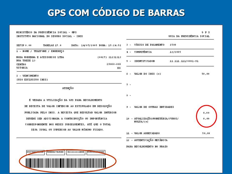 30 GPS COM CÓDIGO DE BARRAS