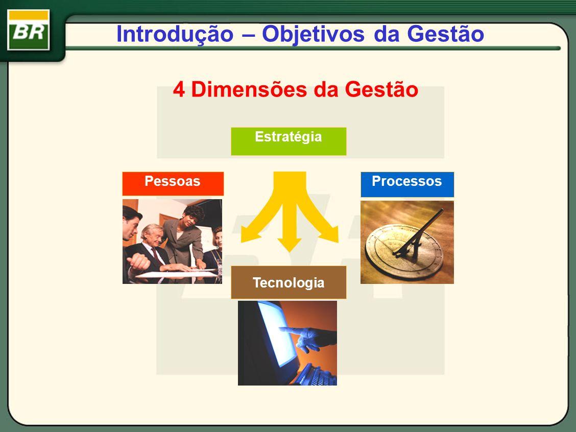 Introdução – Objetivos da Gestão 4 Dimensões da Gestão PessoasProcessos Tecnologia Estratégia