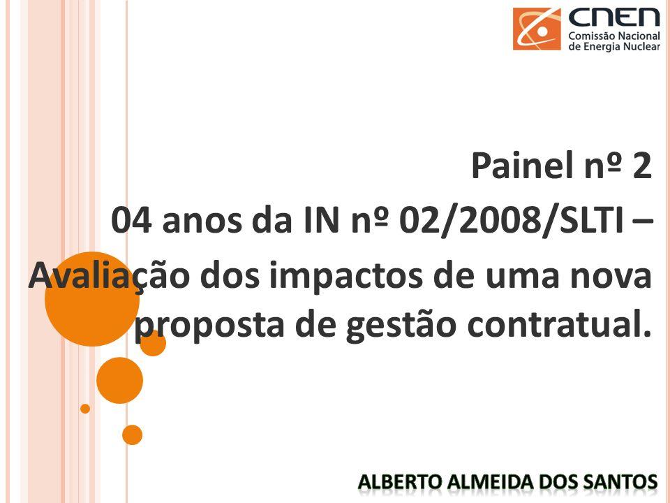 Painel nº 2 04 anos da IN nº 02/2008/SLTI – Avaliação dos impactos de uma nova proposta de gestão contratual.