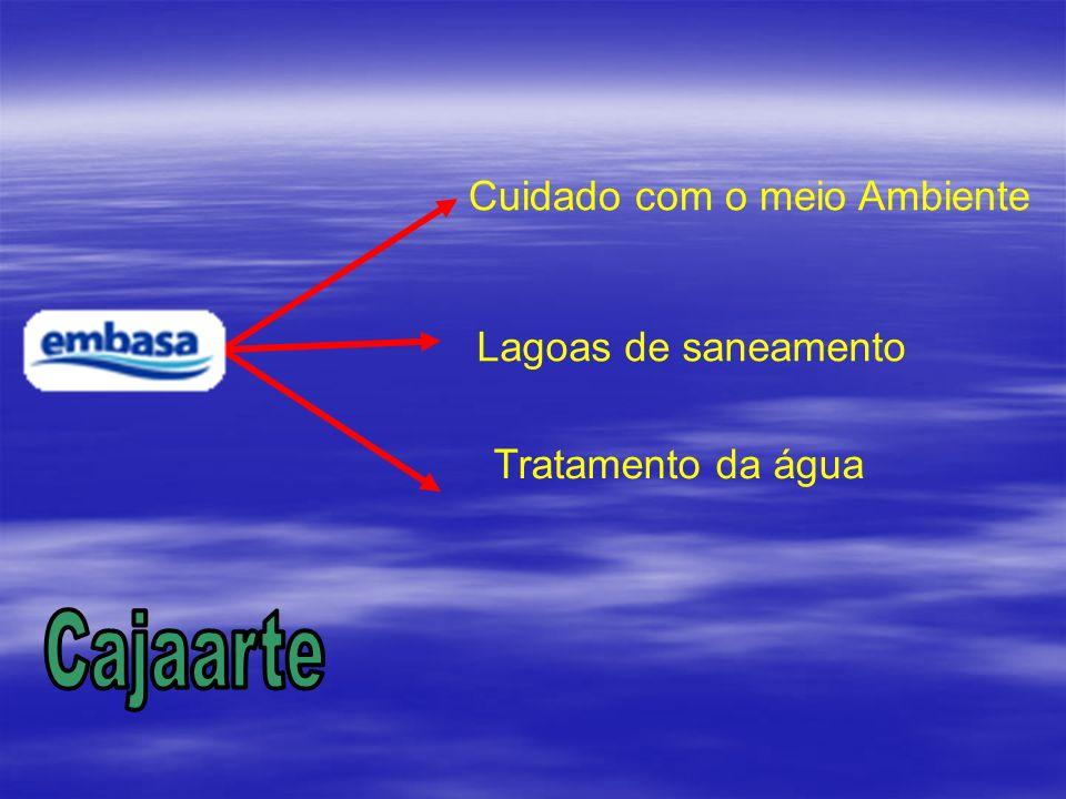 Embasa Cuidado com o meio Ambiente Lagoas de saneamento Tratamento da água