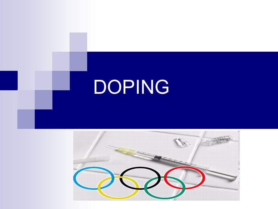 CONCEITO Substância, agente ou método capaz de alterar o desempeno do atleta, a sua saúde e o espírito de jogo, sendo em competição ou não.