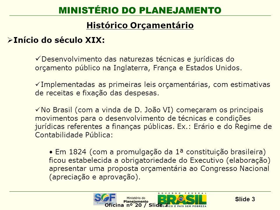 MINISTÉRIO DO PLANEJAMENTO Slide 4 Orçamento Público, instrumento capaz de: Orientar as decisões.