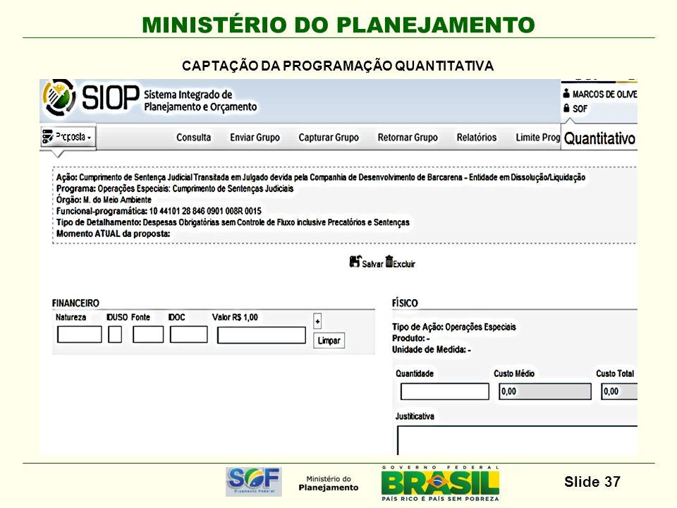 MINISTÉRIO DO PLANEJAMENTO Slide 38 X X XX XX XX.X.