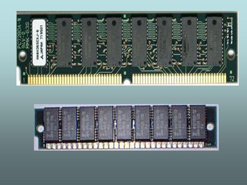 - DIMM (Double In Line Memory Module) - esse é o padrão de encapsulamento que surgiu após o tipo SIMM.
