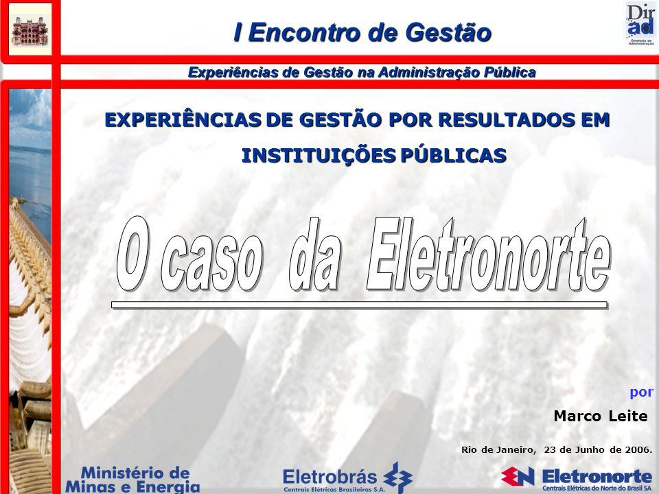 EXPERIÊNCIAS DE GESTÃO POR RESULTADOS EM INSTITUIÇÕES PÚBLICAS Rio de Janeiro, 23 de Junho de 2006. por Marco Leite I Encontro de Gestão Experiências