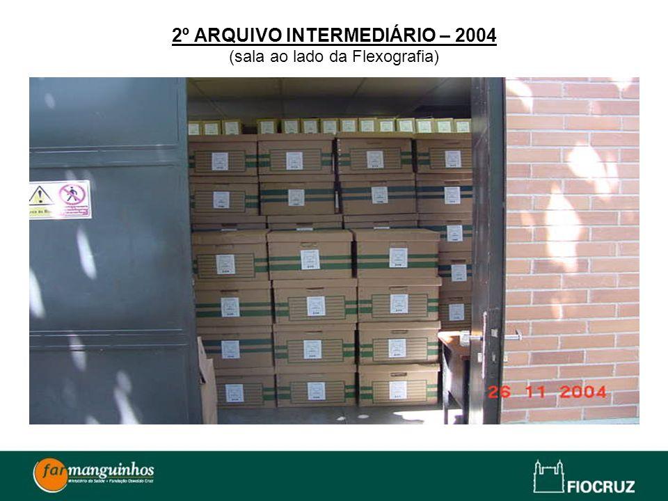 2º ARQUIVO INTERMEDIÁRIO – 2004 (sala ao lado da Flexografia)