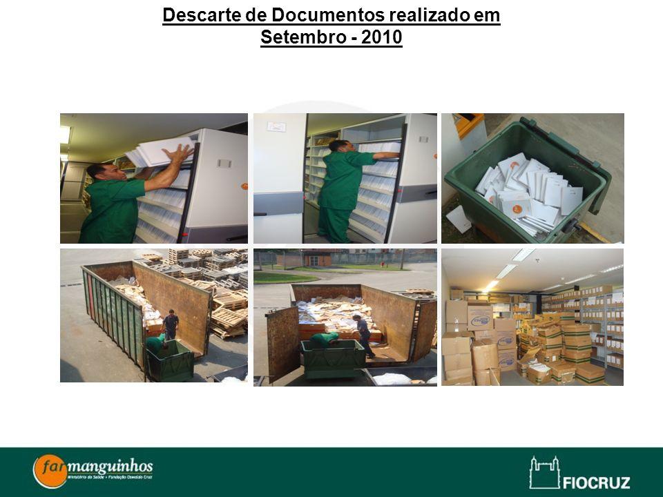 Descarte de Documentos realizado em Setembro - 2010