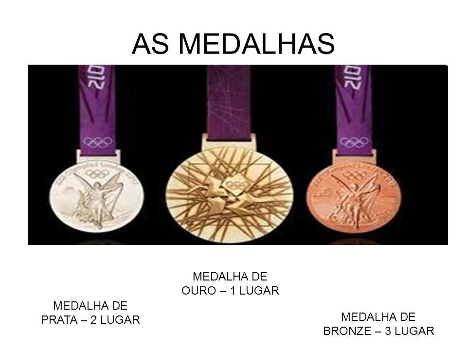 AS MEDALHAS MEDALHA DE PRATA – 2 LUGAR MEDALHA DE BRONZE – 3 LUGAR MEDALHA DE OURO – 1 LUGAR