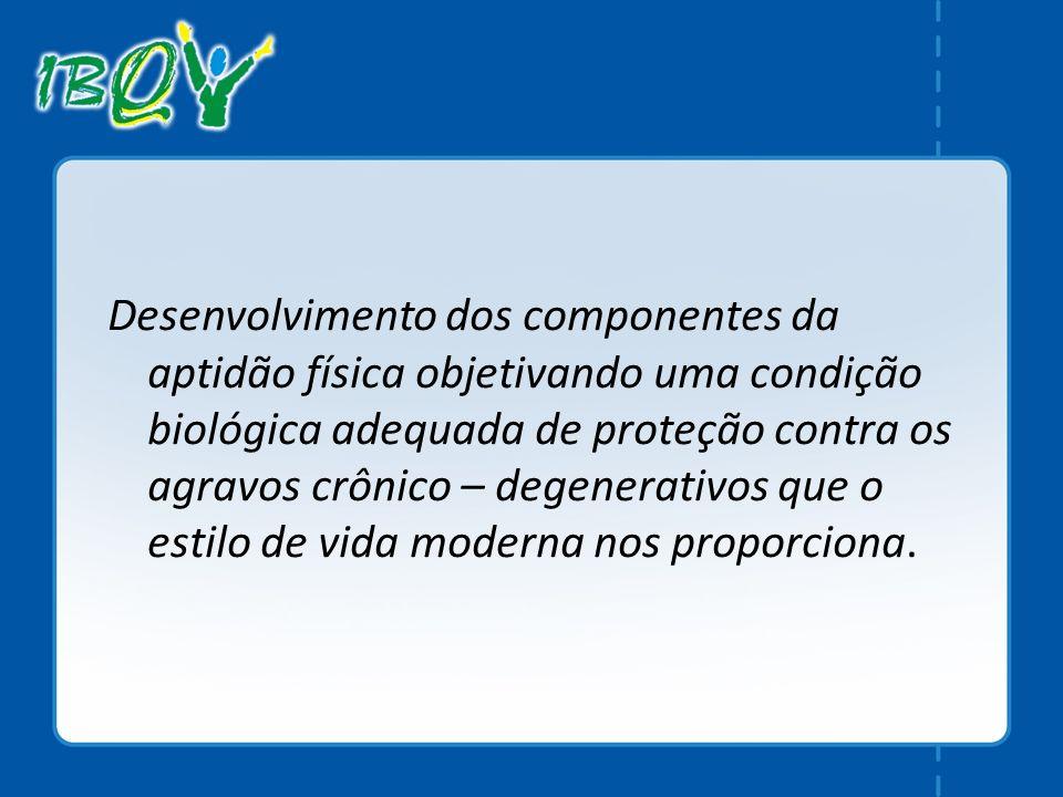 Desenvolvimento dos componentes da aptidão física objetivando uma condição biológica adequada de proteção contra os agravos crônico – degenerativos qu