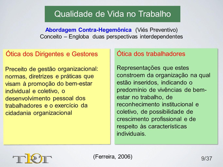 Preceito de gestão organizacional: normas, diretrizes e práticas que visam à promoção do bem-estar individual e coletivo, o desenvolvimento pessoal do