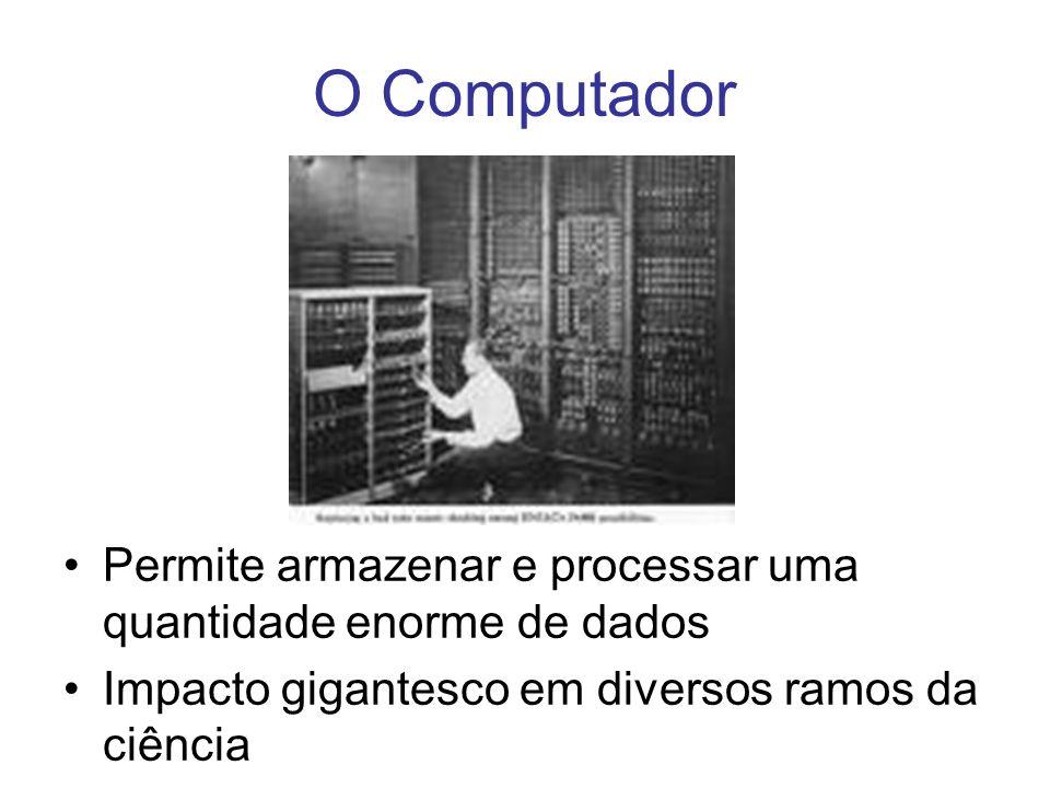 Permite armazenar e processar uma quantidade enorme de dados Impacto gigantesco em diversos ramos da ciência O Computador