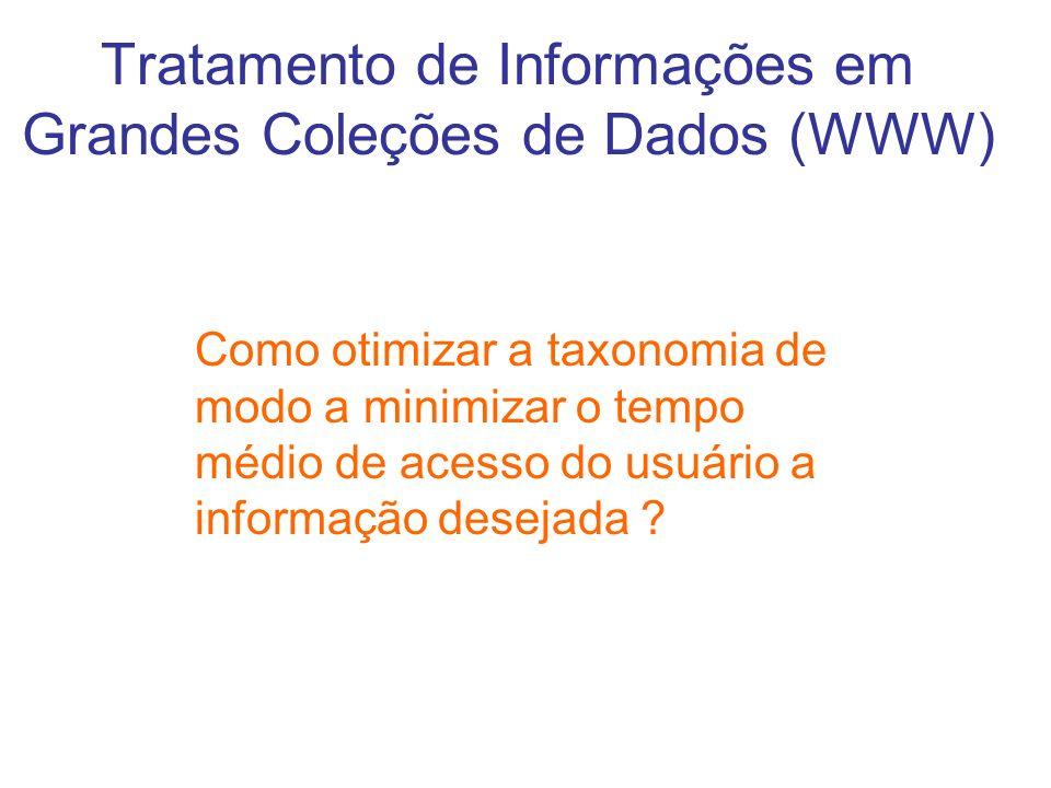 Tratamento de Informações em Grandes Coleções de Dados (WWW) Como otimizar a taxonomia de modo a minimizar o tempo médio de acesso do usuário a inform