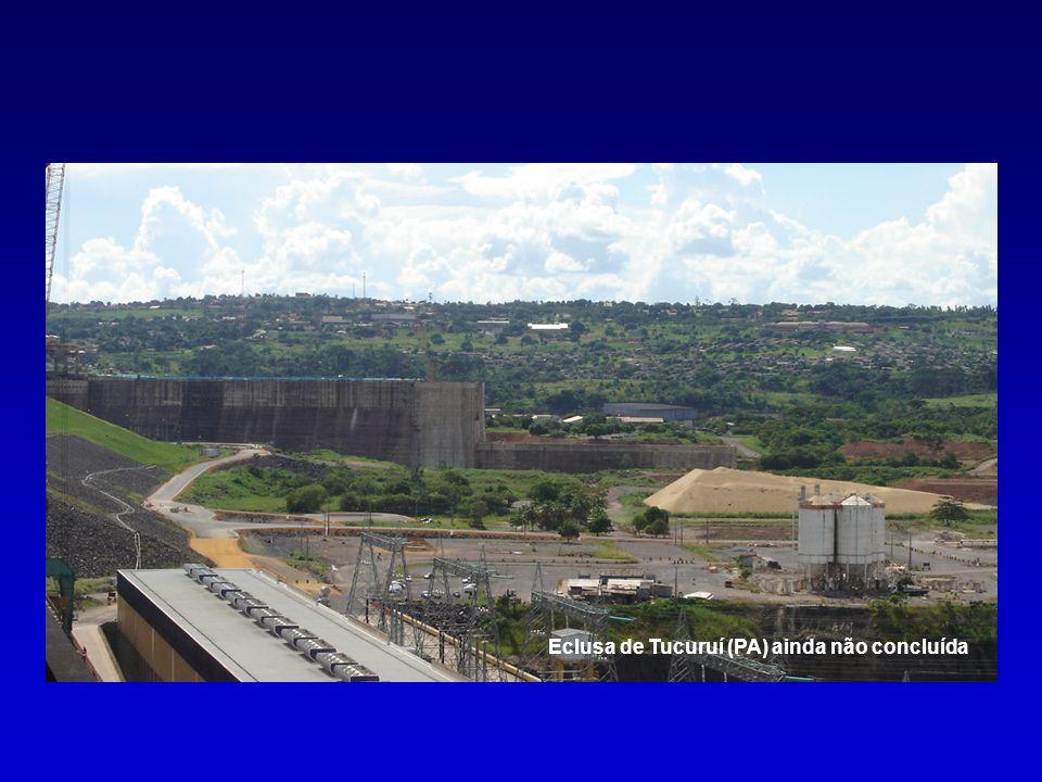 Eclusa de Tucuruí (PA) ainda não concluída