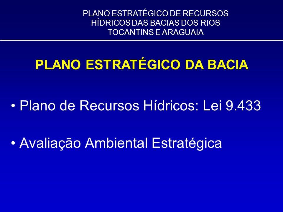 Plano de Recursos Hídricos: Lei 9.433 Avaliação Ambiental Estratégica PLANO ESTRATÉGICO DE RECURSOS HÍDRICOS DAS BACIAS DOS RIOS TOCANTINS E ARAGUAIA