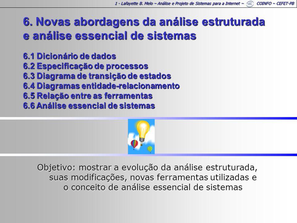 1 - Lafayette B. Melo – Análise e Projeto de Sistemas para a Internet – COINFO – CEFET-PB 6.