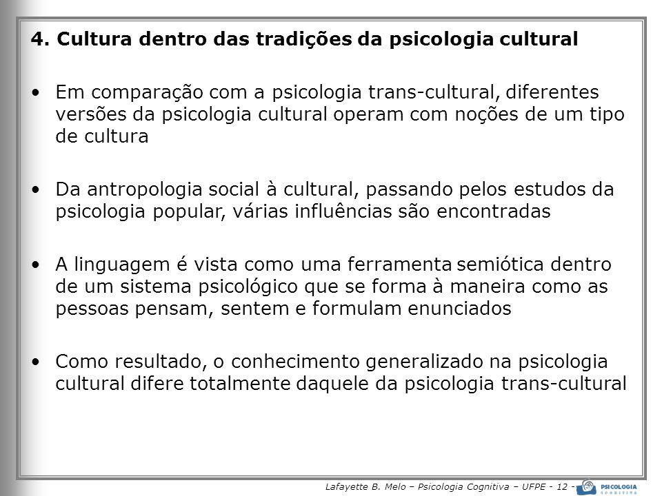 Lafayette B.Melo – Psicologia Cognitiva – UFPE - 12 - 4.