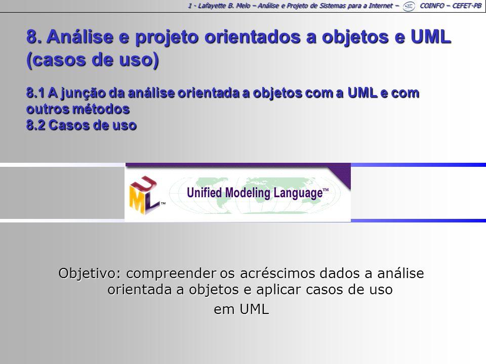 1 - Lafayette B. Melo – Análise e Projeto de Sistemas para a Internet – COINFO – CEFET-PB 8.