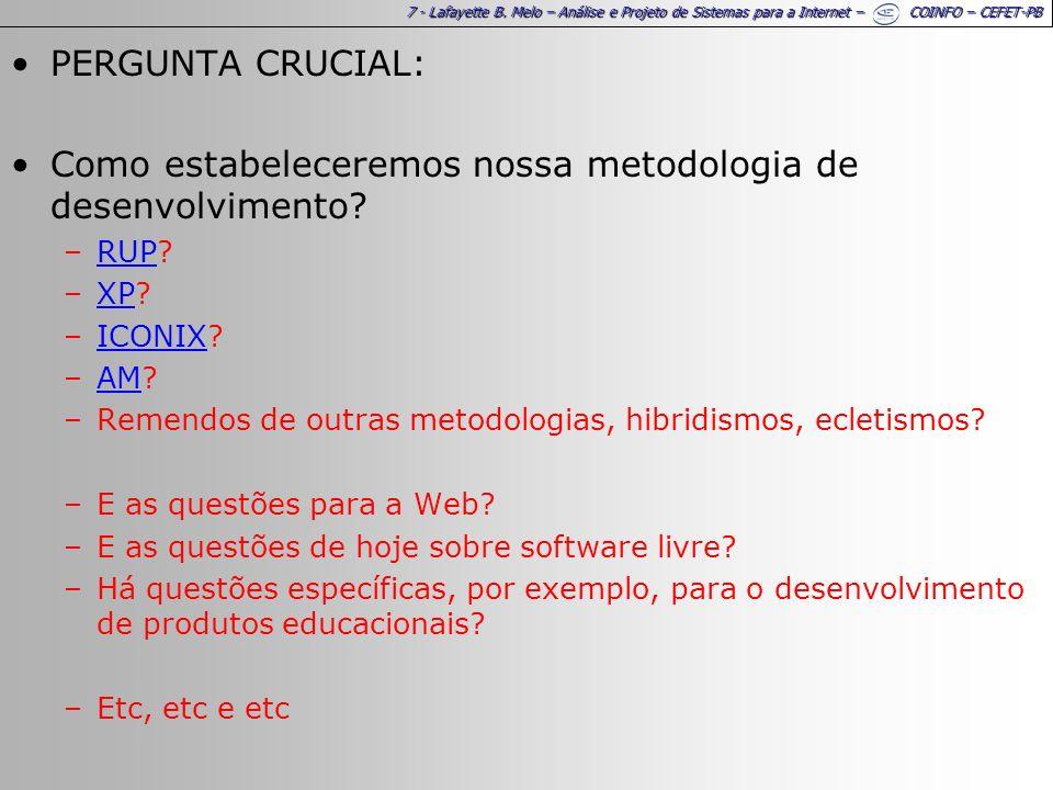 28 - Lafayette B. Melo – Análise e Projeto de Sistemas para a Internet – COINFO – CEFET-PB