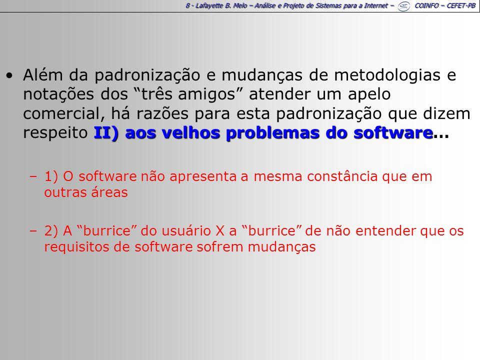 29 - Lafayette B.Melo – Análise e Projeto de Sistemas para a Internet – COINFO – CEFET-PB 9.