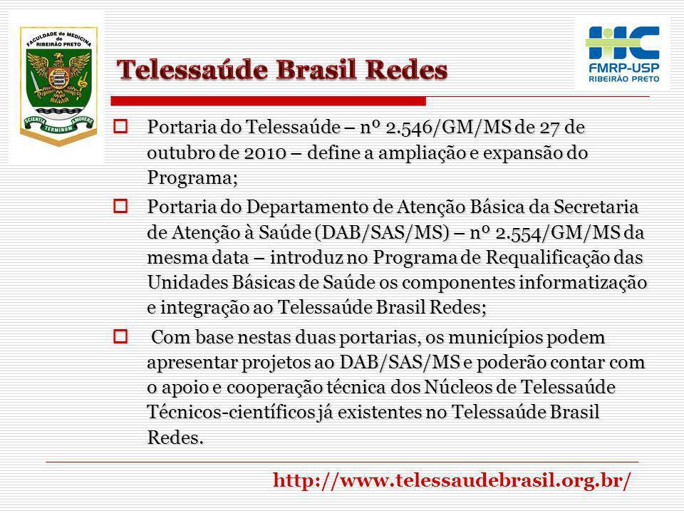 A expansão do Telessaúde Brasil Redes atenderá ao disposto no Decreto nº 7.508, de 28 de junho de2011 – regulamenta a organização do Sistema Único de Saúde - SUS, o planejamento da saúde, a assistência à saúde e a articulação interfederativa, e dá outras providências; A expansão do Telessaúde Brasil Redes atenderá ao disposto no Decreto nº 7.508, de 28 de junho de2011 – regulamenta a organização do Sistema Único de Saúde - SUS, o planejamento da saúde, a assistência à saúde e a articulação interfederativa, e dá outras providências; Portaria nº 4.279/GM/MS de 2010 - estabelece as diretrizes das redes de atenção à saúde; Portaria nº 4.279/GM/MS de 2010 - estabelece as diretrizes das redes de atenção à saúde; Portaria nº 2.073/GM/MS de 31 de agosto de 2011 - estabelece os padrões de interoperabilidade de sistemas de informação em saúde.