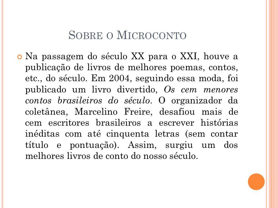 CRITÉRIOS PARA A PRODUÇÃO DE MICROCONTOS Estímulo a partir da leitura e análise de outros microcontos; Temática livre; Cinquenta letras; Reescrita do microconto, quando necessário (respeitando os limites de cada aluno).