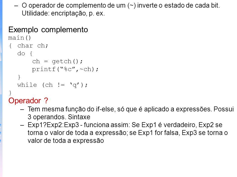 –Na rotação de bits, um bit pode ser perdido, mas uma forma de não perder os bits rotacionados é a implementação usando Union Exemplo rotação usando U