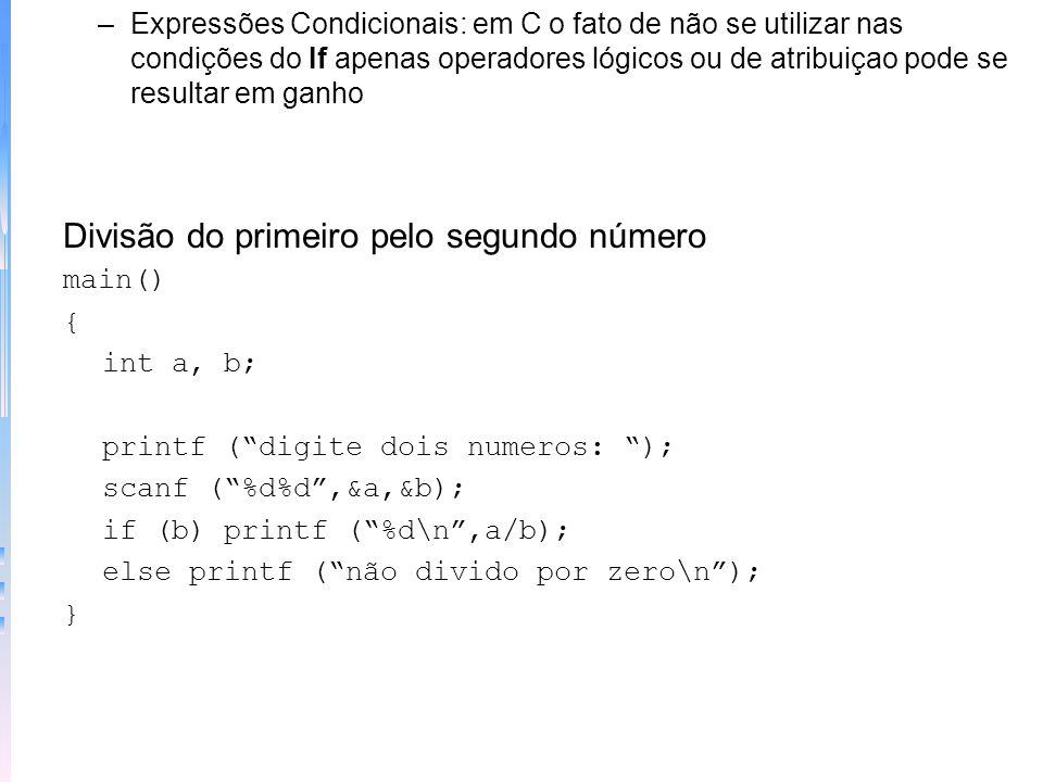 –Escada if-else-if: if (condição) comando; else if (condição) comando; else if (condição) comando;... Modificação de número mágico if (adivinha == mag