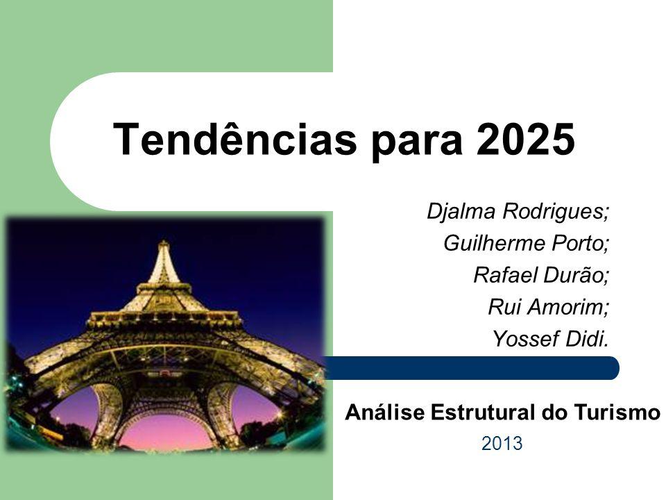 Djalma Rodrigues; Guilherme Porto; Rafael Durão; Rui Amorim; Yossef Didi. Tendências para 2025 2013 Análise Estrutural do Turismo
