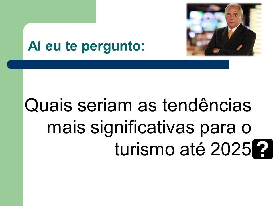 Aí eu te pergunto: Quais seriam as tendências mais significativas para o turismo até 2025