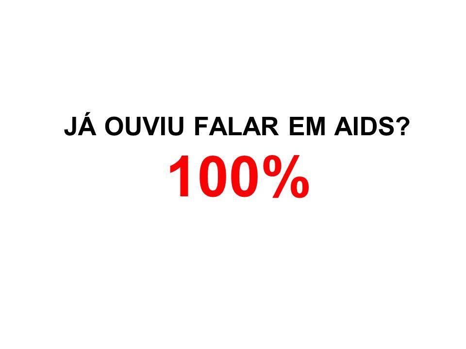 JÁ OUVIU FALAR EM AIDS 100%