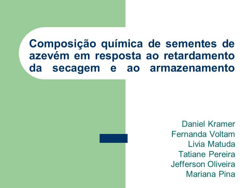 Composição química de sementes de azevém em resposta ao retardamento da secagem e ao armazenamento Daniel Kramer Fernanda Voltam Livia Matuda Tatiane