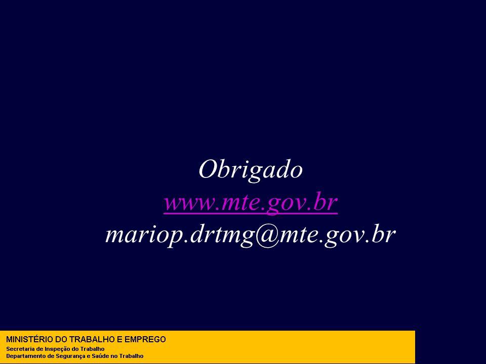 Obrigado www.mte.gov.br mariop.drtmg@mte.gov.br www.mte.gov.br