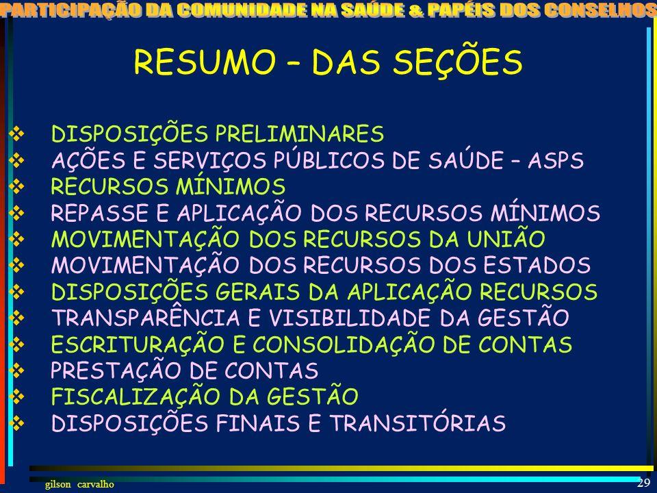 gilson carvalho GILSON CARVALHO 28 A NOVA LEI DO SUS LC 141 JAN-2012