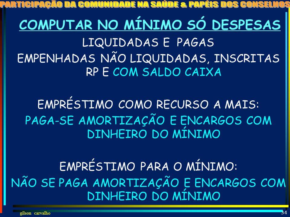 gilson carvalho 33 CRITÉRIOS DE RATEIO DE RECURSOS DA SAÚDE DE ESTADOS PARA MUNICÍPIOS LC 141, 19 NECESSIDADES DE SAÚDE CONSIDERANDO DIMENSÕES: EPIDEM