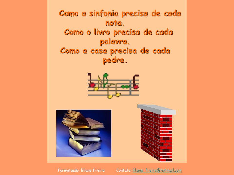 Formatação: liliane Freire Contato: liliane_freire@hotmail.comliliane_freire@hotmail.comCréditos Texto: A Soma dos Talentos Autor: Michel Quoist Música: Sara Brigtman - Winter Light Imagens da NET Formatação: liliane Freire Contato: liliane_freire@hotmail.com liliane_freire@hotmail.com lilifreire0505@yahoo.com.br www.lagodecristal.blogspot.com Se o homem dissesse: Não é um gesto de amor que pode salvar a humanidade , jamais haveria justiça e paz, dignidade e felicidade na terra dos homens.