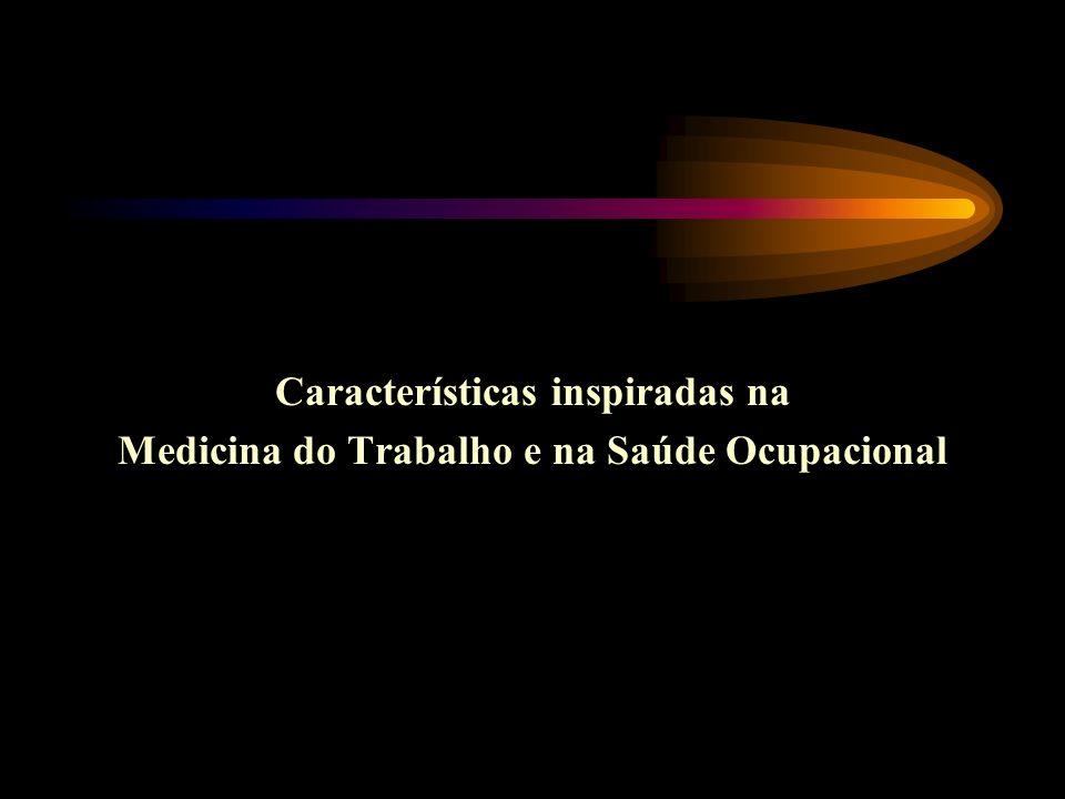 Características inspiradas na Medicina do Trabalho e na Saúde Ocupacional