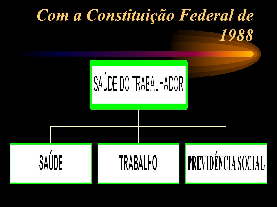 Com a Constituição Federal de 1988