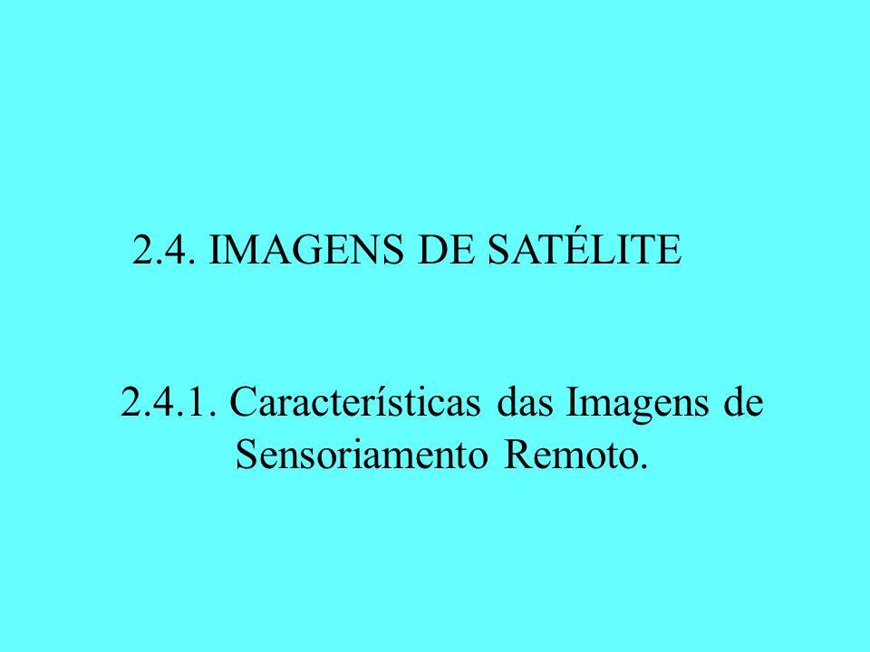 2.4. IMAGENS DE SATÉLITE 2.4.1. Características das Imagens de Sensoriamento Remoto.