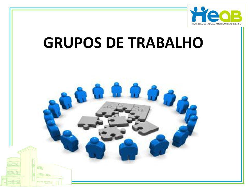 Grupo de Trabalho do Bloco Cirúrgico e UTI: Presidente: Cláudio Pereira Souza Jr.