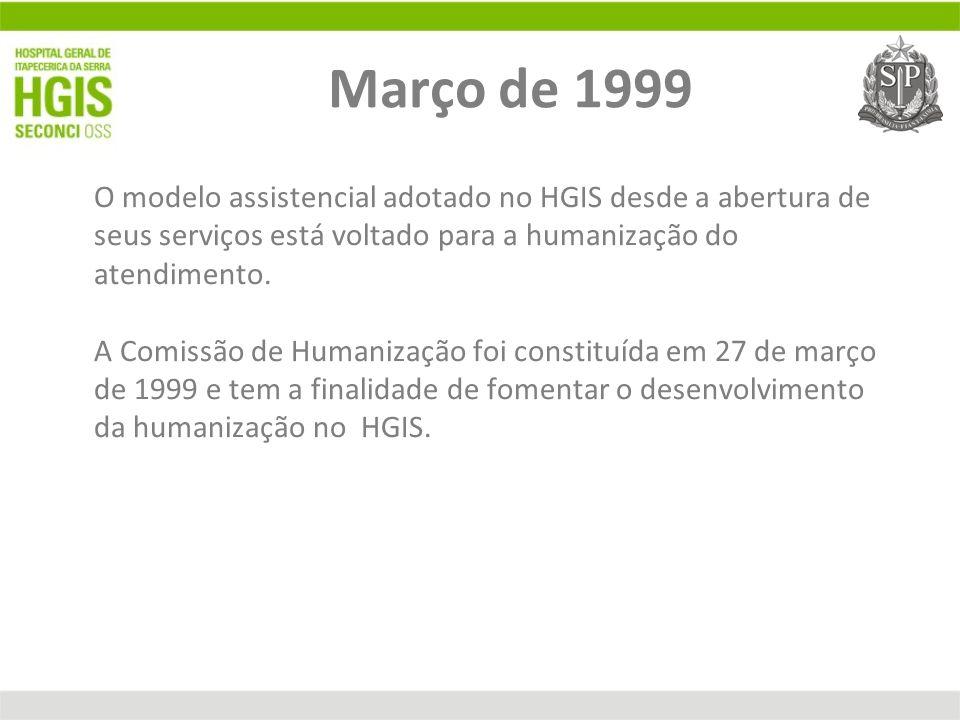 O modelo assistencial adotado no HGIS desde a abertura de seus serviços está voltado para a humanização do atendimento. A Comissão de Humanização foi