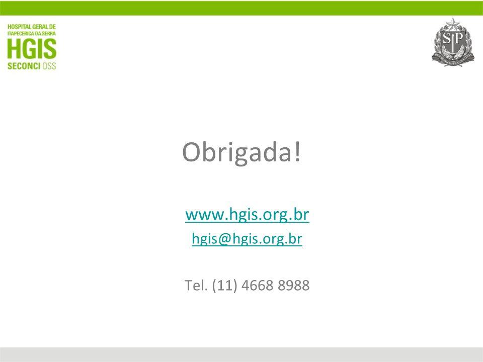 Obrigada! www.hgis.org.br hgis@hgis.org.br Tel. (11) 4668 8988
