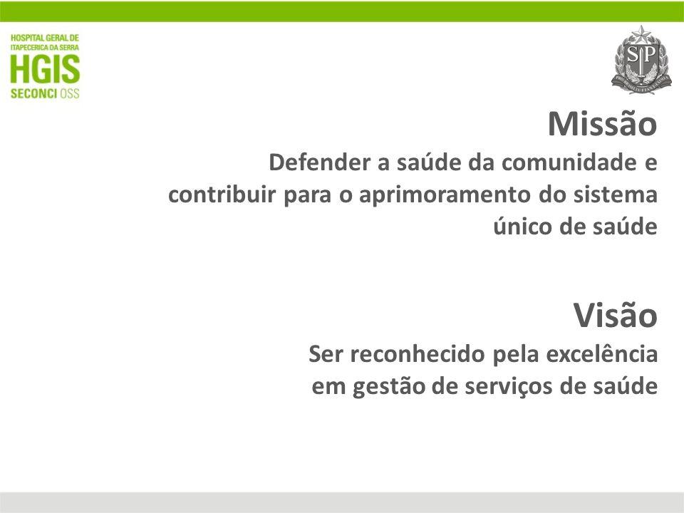Missão Defender a saúde da comunidade e contribuir para o aprimoramento do sistema único de saúde Visão Ser reconhecido pela excelência em gestão de s