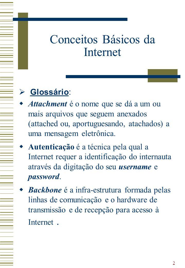 23 Ferramentas da Internet - Tracert Definição: Aplicativo para apresentar o caminho percorrido pelo pacote até o destino.