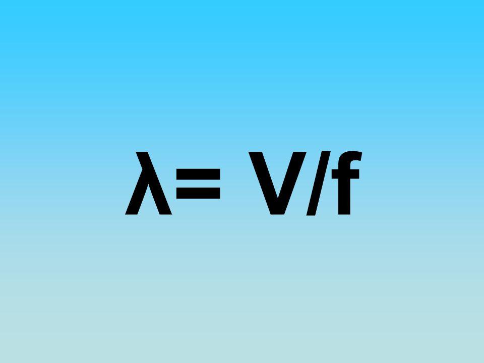 λ= V/f