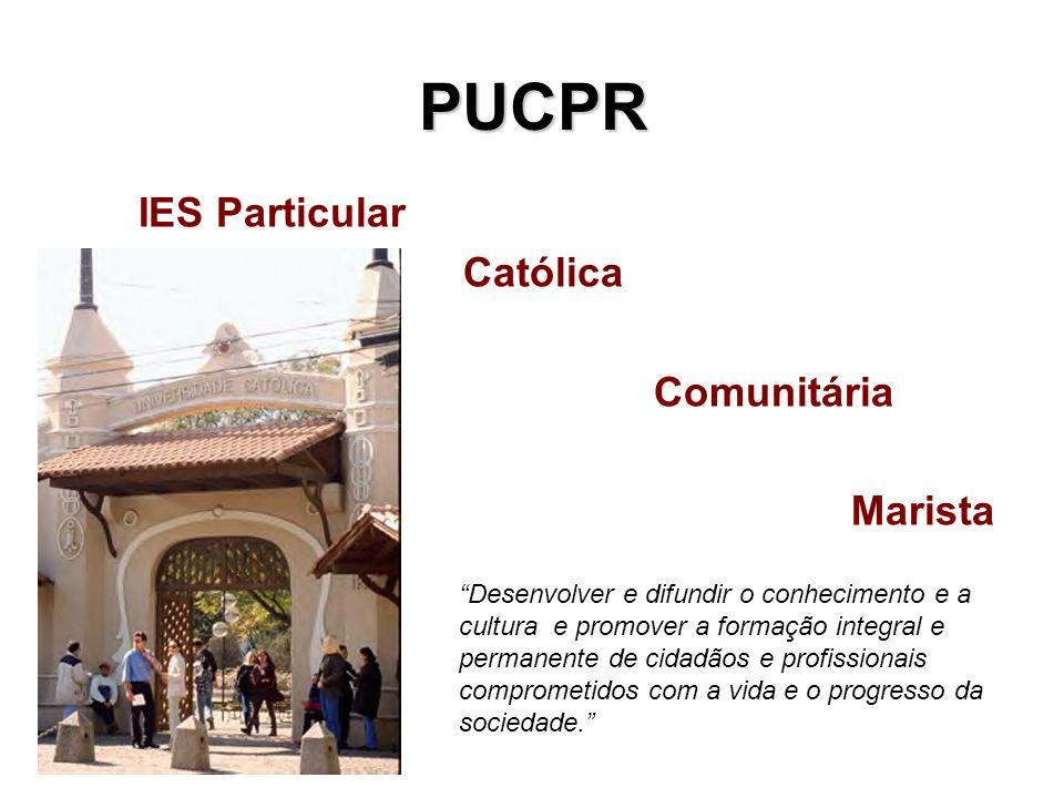 PUCPR IES Particular Católica Comunitária Marista Desenvolver e difundir o conhecimento e a cultura e promover a formação integral e permanente de cid