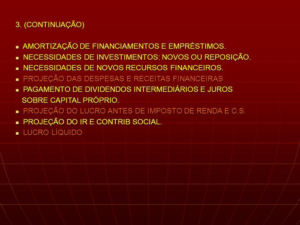 3. (CONTINUAÇÃO) AMORTIZAÇÃO DE FINANCIAMENTOS E EMPRÉSTIMOS.