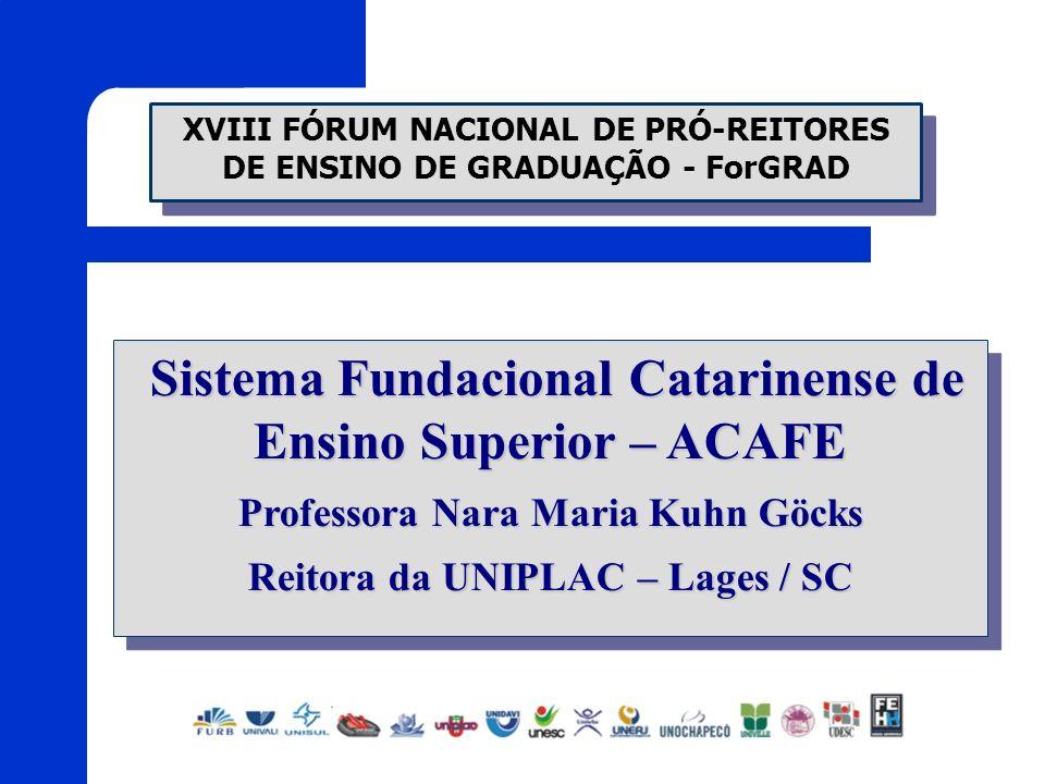 Sistema Fundacional Catarinense de Ensino Superior – ACAFE Sistema Fundacional Catarinense de Ensino Superior – ACAFE Professora Nara Maria Kuhn Göcks